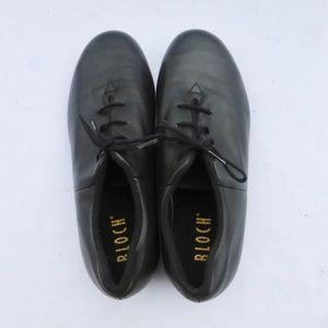 Bloch Tap Dance Black Leather Shoes Unisex Lace Up